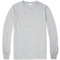 Schiesser Karl Heinz Long Sleeve Henley Grey