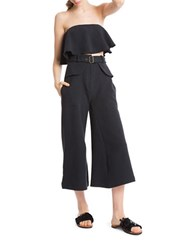 Tracy Reese Belted Silk Palazzo Pants Black