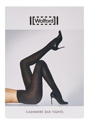 Wolford Black Cashmere And Silk Blend Tights