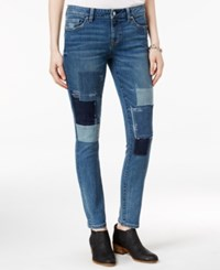Tommy Hilfiger Patchwork Medium Wash Straight Leg Jeans