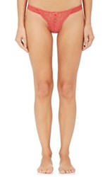 Stella Mccartney Women's Isabel Floating Lace And Satin Thong Pink