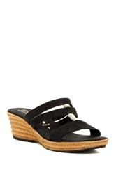 Italian Shoemakers Strappy Wedge Sandal Black