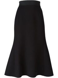 Dolce And Gabbana Mermaid Shape Skirt Black