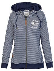 Fat Face Heritage Feeder Stripe Hoodie Navy
