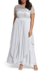 Alex Evenings Plus Size Women's Sequin Empire Waist Gown