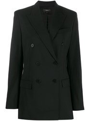 Theory Double Breasted Fitted Jacket Black