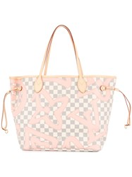 Louis Vuitton Vintage Neverfull Mm Tote White