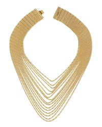 Auden Leighton Multi Strand Chain Necklace Gold