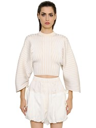 Sportmax Cropped Rib Knit Sweater W Drawstrings