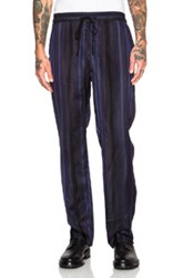 3.1 Phillip Lim Tapered Elastic Waist Lounge Pant In Stripes Blue