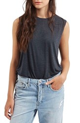 Women's Topshop Slouchy Muscle Tank Charcoal