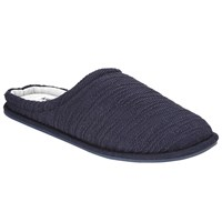 John Lewis Kin By Textured Knit Mule Slippers Navy