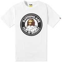 A Bathing Ape Year Of Monkey Tee White
