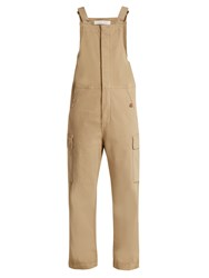 See By Chloe Straight Leg Stretch Cotton Dungarees Beige
