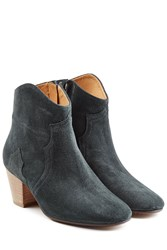 Etoile Isabel Marant Dicker Suede Ankle Boots Black