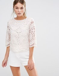 Darling Lace Top Nude Beige