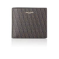 Saint Laurent Men's Monogram Billfold Black Blue Black Blue