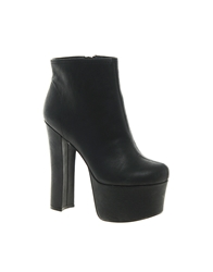 Zigi Soho Big Platform Heeled Boot Black