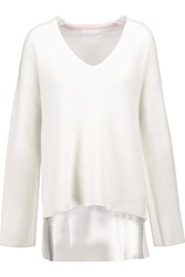 Duffy Ribbed Cashmere Sweater Off White