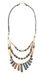 Nakamol Gabby Statement Necklace Unakite Mix