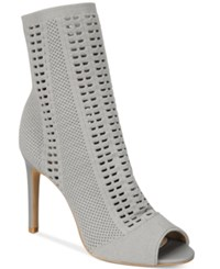 Charles By Charles David Rebellious Stretch Peep Toe Booties Women's Shoes Stone Grey