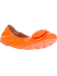 Marc By Marc Jacobs Bow Front Ballet Flat Yellow And Orange