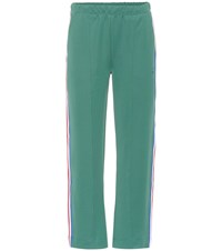 Etre Cecile Retro Cropped Trackpants Green