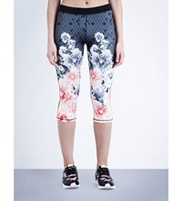 Ted Baker Monorose Cropped Sports Leggings Black