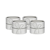 Vera Wang Wedgwood Love Knots Napkin Rings Set Of 4