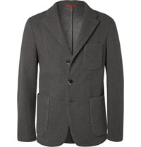 Barena Grey Unstructured Neoprene Blazer Unknown