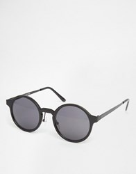 Selected Homme Round Sunglasses Black