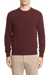Moncler Men's Tipped Wool Pullover Burgundy