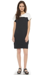 Vince Colorblock Mini Dress Black Off White