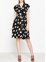 Hobbs Alexia Leopard Print Dress Black Bone