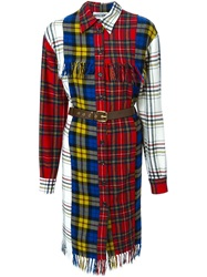 Moschino Tartan Shirt Dress Red