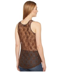 Rock And Roll Cowgirl Knit Tank Top 49 1143 Chocolate Women's Sleeveless Brown
