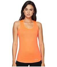 Marmot Aero Tank Top Neon Coral Women's Sleeveless Orange