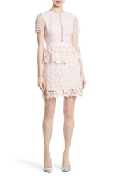 Ted Baker Women's London Dixa Layered Lace Skater Dress Baby Pink