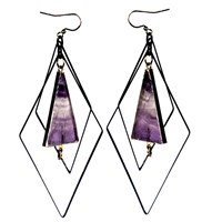 Tiana Jewel Tempest Flourite Earrings Muret Collection Pink Purple