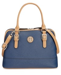 Giani Bernini Saffiano Dome Satchel Only At Macy's Navy