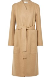 The Row Paret Belted Wool And Cashmere Blend Coat Sand