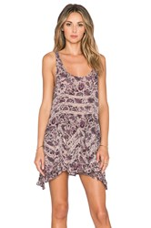 Free People Voile And Lace Trapeze Slip Taupe
