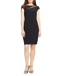 Lauren Ralph Lauren Mesh Inset Jersey Dress Black Black