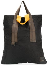 Marni Crinkle Effect Tote Bag Polyester Black