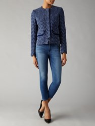 Helene For Denim Wardrobe Tweed Jacket Navy