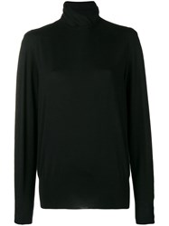 Agnona Long Sleeve Fitted Sweater Black