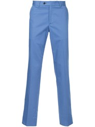 Gieves And Hawkes Fitted Tailored Trousers Blue