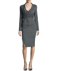 Donna Karan Draped Crisscross Knit Jacket Women's