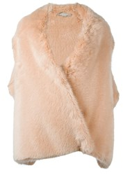 Stella Mccartney 'Fur Free Fur Alexis' Waistcoat Nude And Neutrals