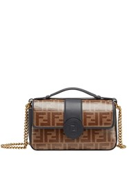 Fendi Small Double F Handbag Black